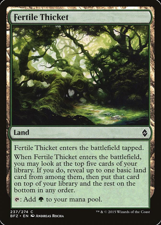 Fertile Thicket [BFZ]