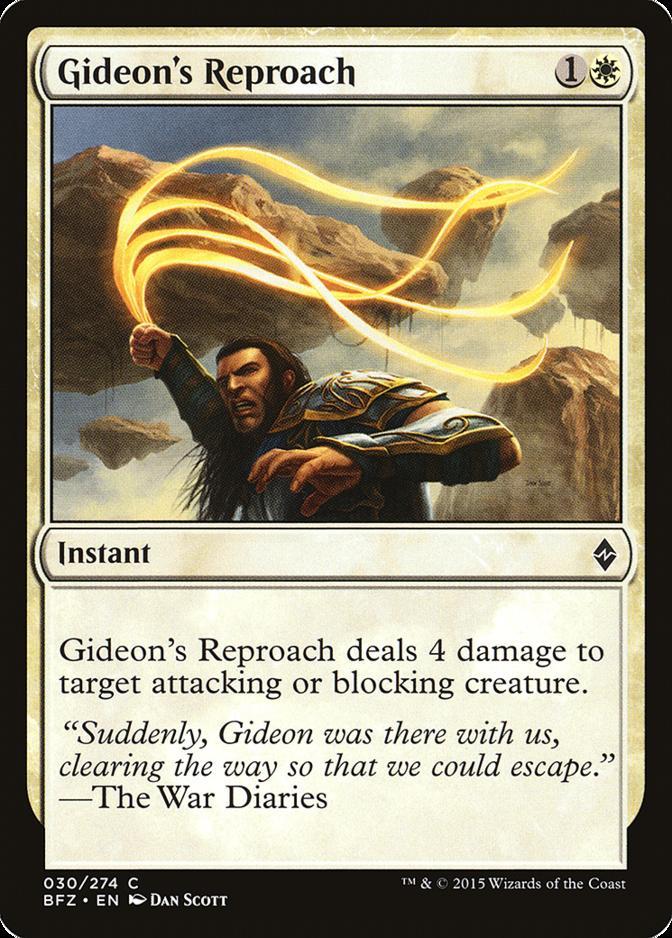 Gideon's Reproach [BFZ] (F)