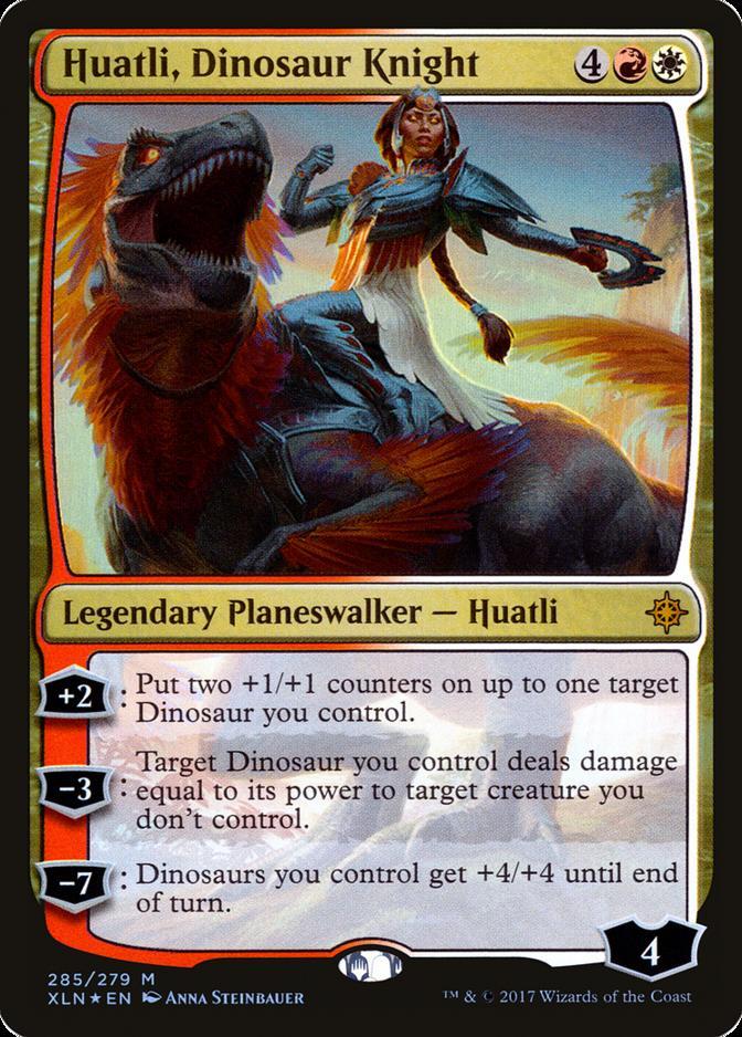Huatli, Dinosaur Knight [XLN]
