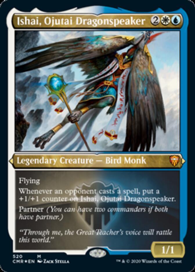 Ishai, Ojutai Dragonspeaker <etched> [CMR] (F)