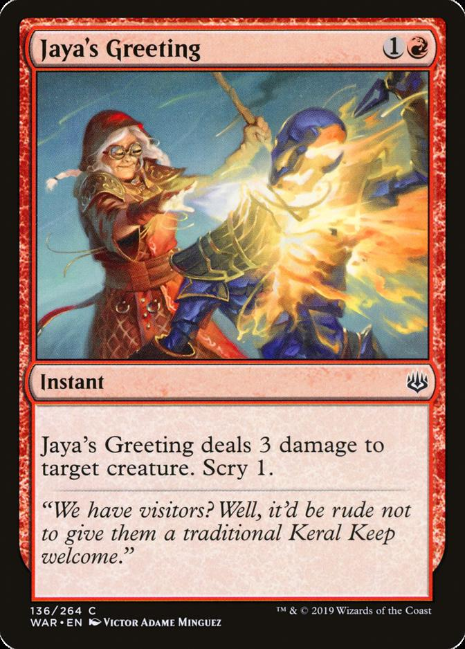 Jaya's Greeting [WAR]