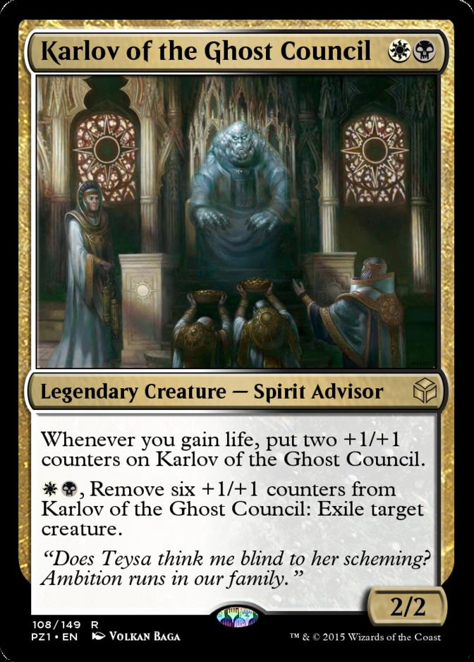 Karlov of the Ghost Council [PZ1] (F)