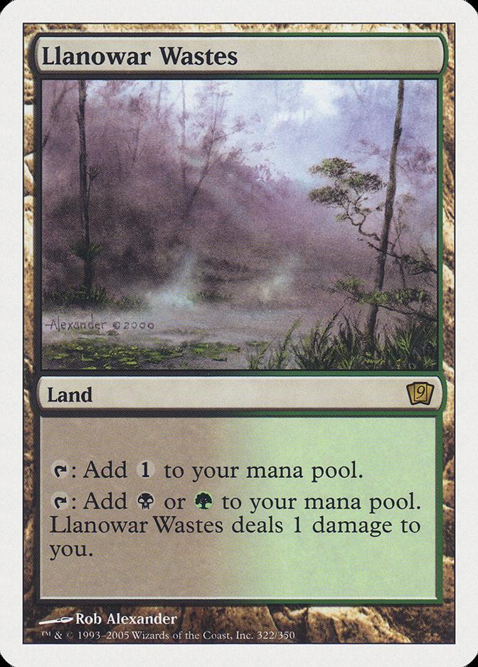 Llanowar Wastes [9ED]