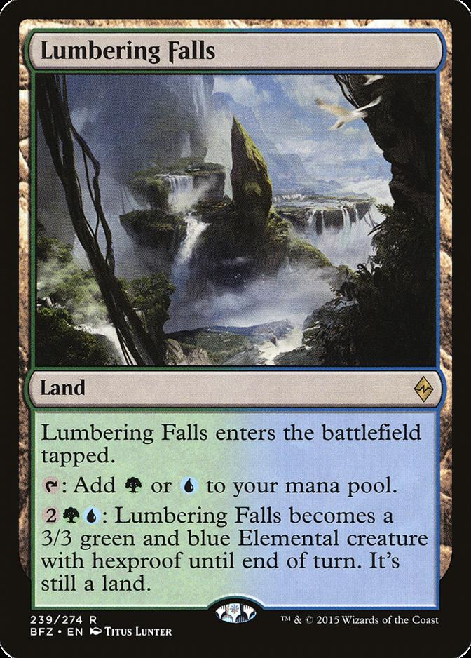 Lumbering Falls Battle for Zendikar