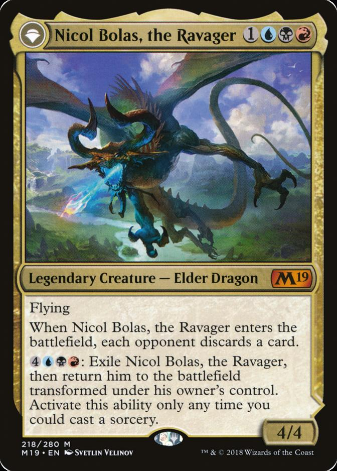 Nicol Bolas, the Ravager [M19]