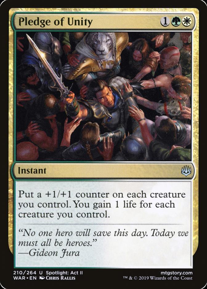 Pledge of Unity [WAR] (F)