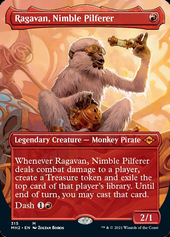 Ragavan, Nimble Pilferer <borderless> [MH2]