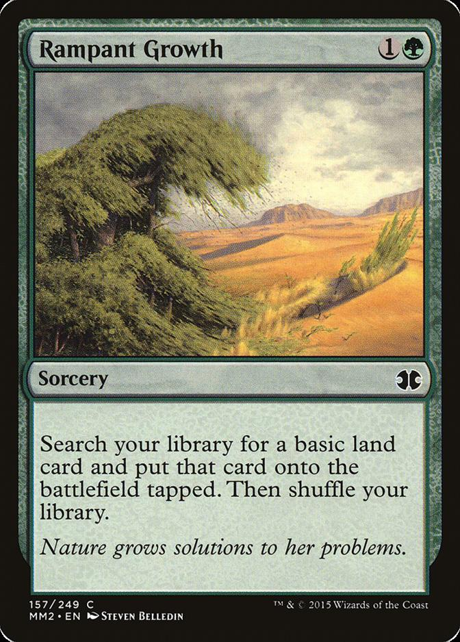 Magic Card Tempest MTG Rampant Growth