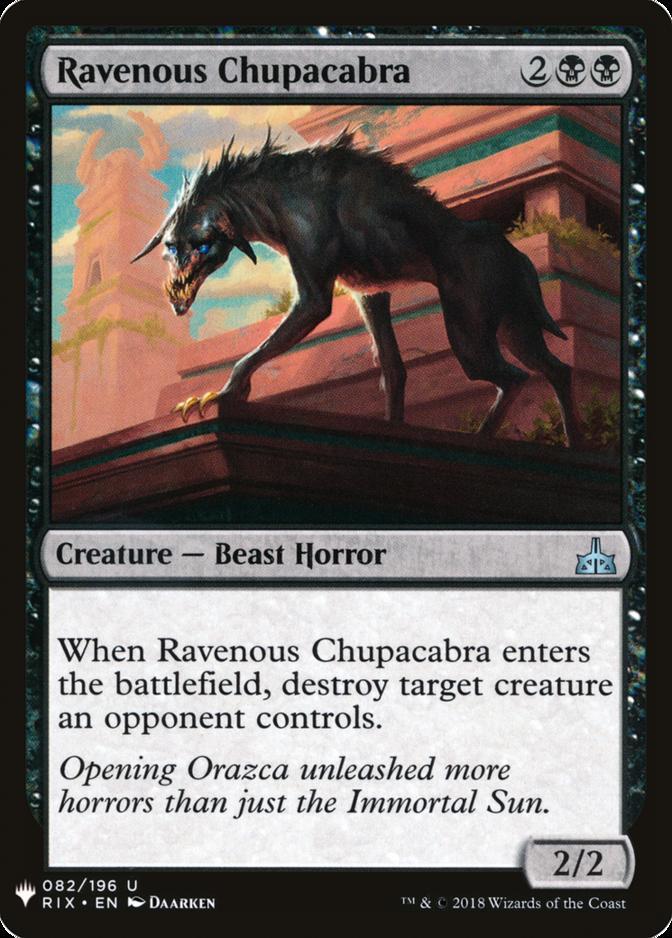 Ravenous Chupacabra [MB1]