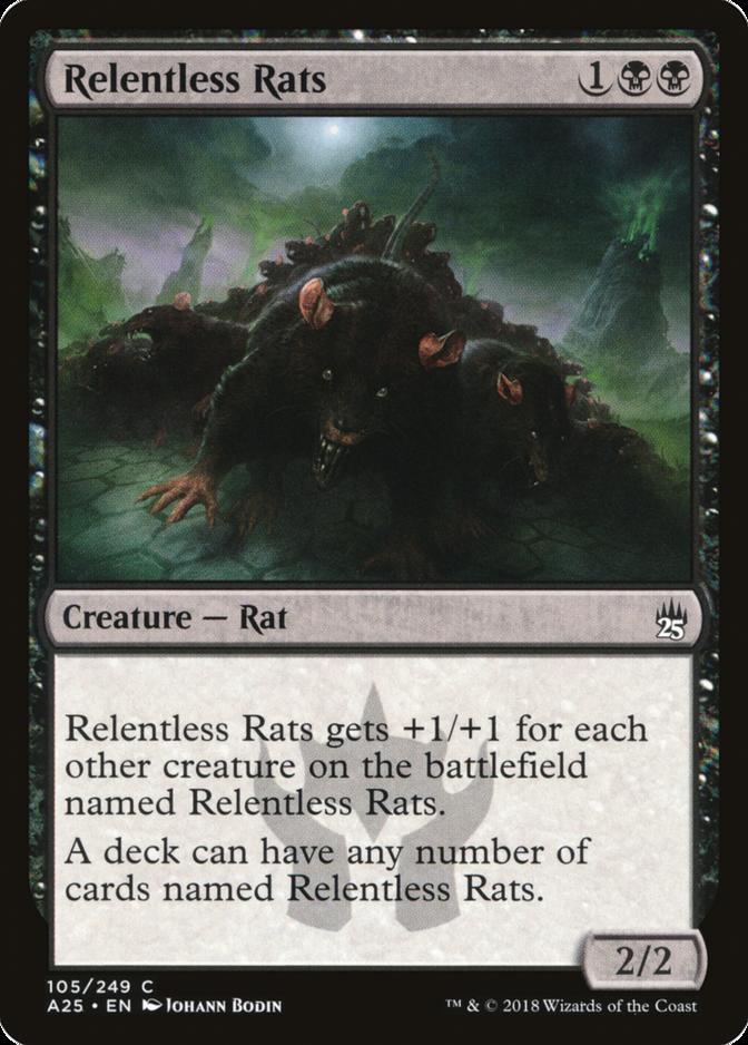 Relentless Rats Magic 2011 M11 NM Black Uncommon MAGIC MTG CARD ABUGames