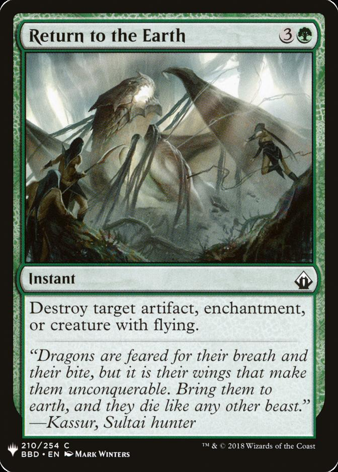 Return to the Earth [MB1]
