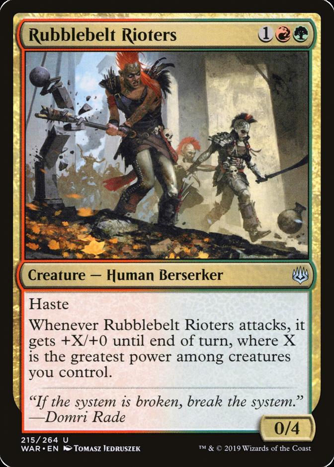 Rubblebelt Rioters [WAR]