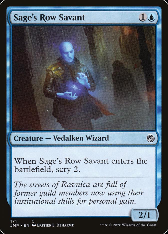 Sage's Row Savant [JMP]