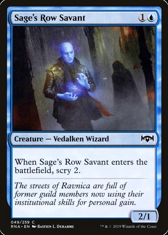 Sage's Row Savant [RNA]