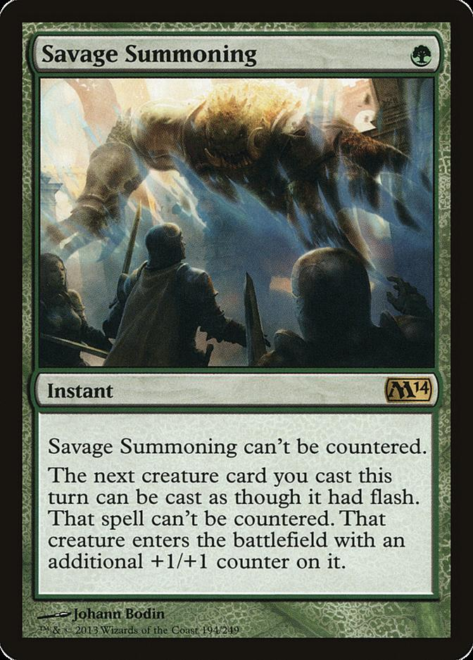 Savage Summoning [M14]