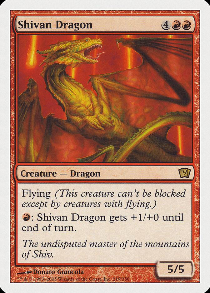 Shivan Dragon [9ED]