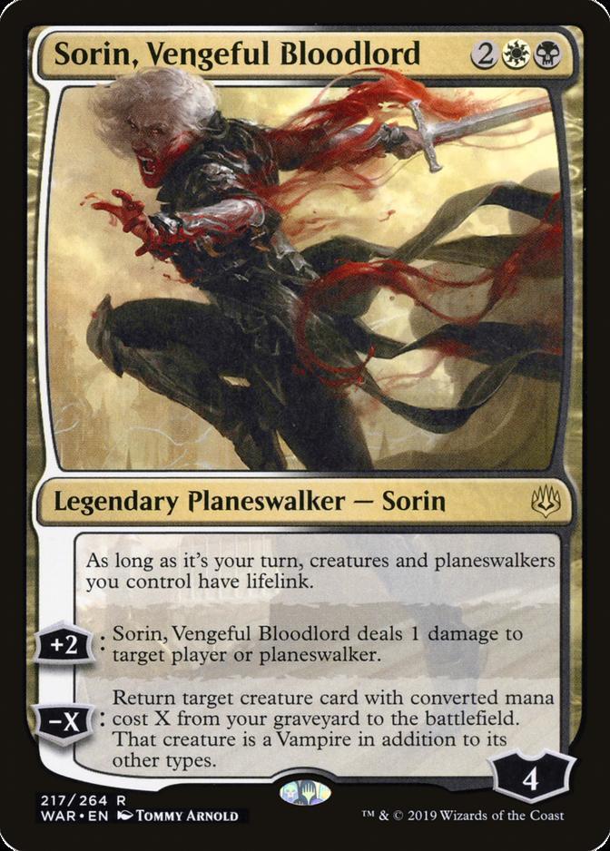 Sorin, Vengeful Bloodlord [WAR] (F)
