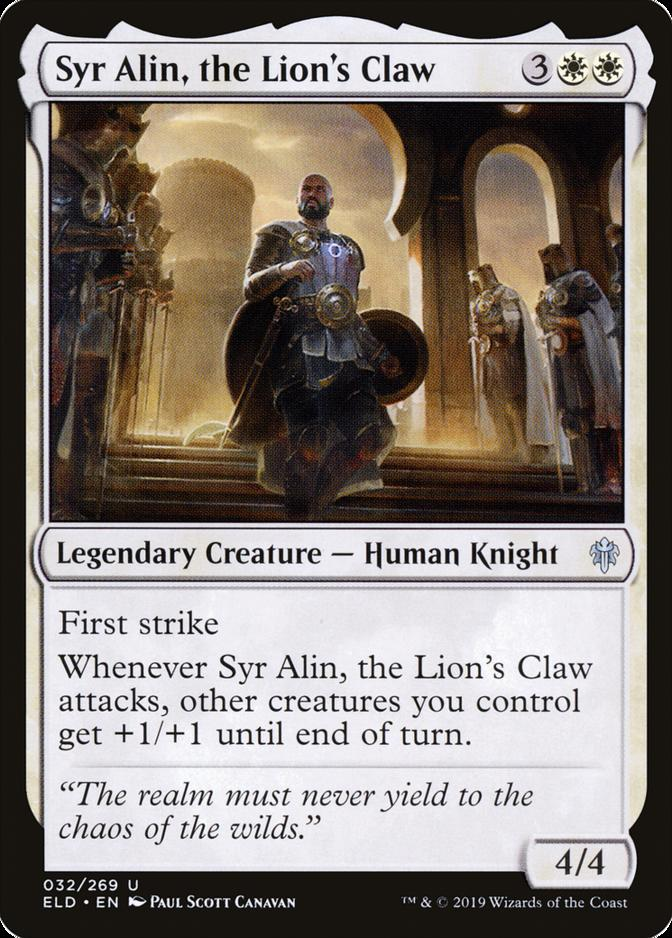 Syr Alin, the Lion's Claw [ELD]