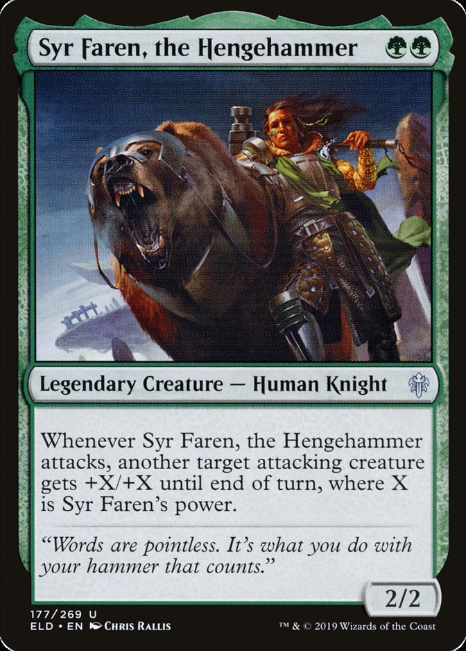 the HengehammerFOILThrone of EldraineMTG Magic Cards 1x Syr Faren