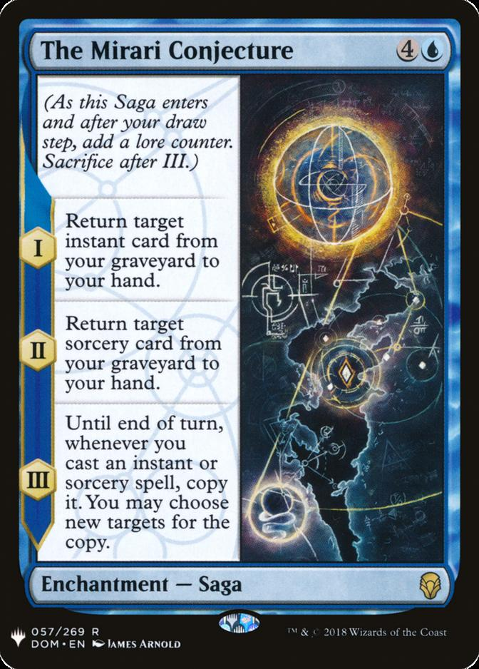 The Mirari Conjecture [MB1]