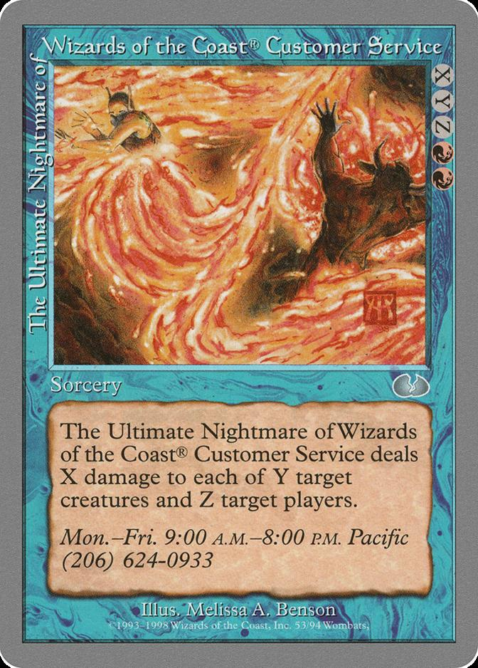 The Ultimate Nightmare of Wizards of the Coast® Customer Service [UGL]