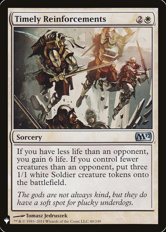 Timely Reinforcements [MB1]