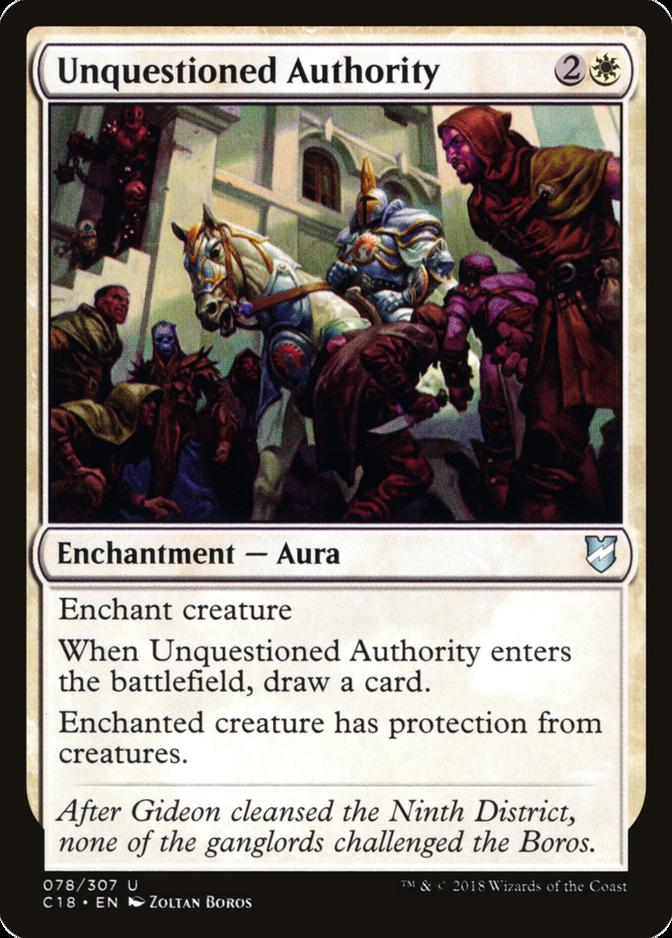 Unquestioned Authority [C18]