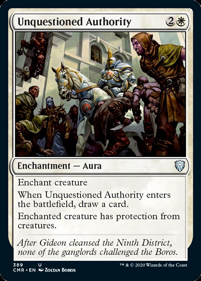 Unquestioned Authority [CMR]