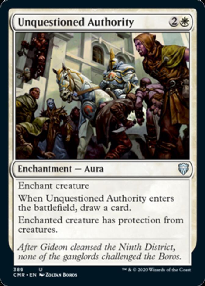 Unquestioned Authority <precon> [CMR]