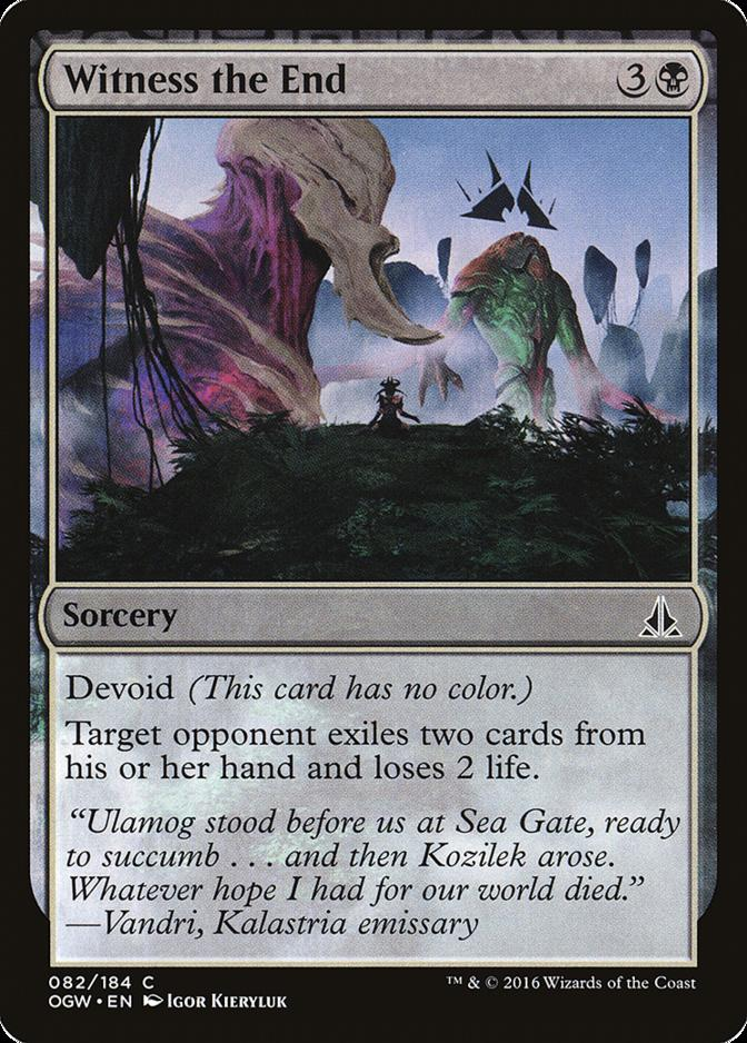 Witness the End [OGW]